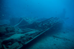 Underwater ship wreck Stock Image