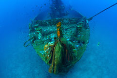 Underwater wreck , Gun, Thailand Stock Photo