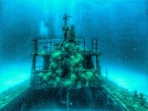 Underwater Wreck in Malta stock images