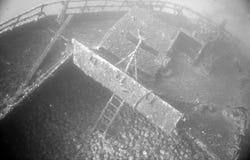 Underwater wreck. Marine life in adriatic sea Royalty Free Stock Images