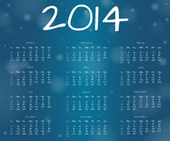 2014 underwater year calendar. 2014 calendar in underwater style - with different bubbles Royalty Free Stock Photography