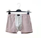 Underwear. Men's underwear on a hanger Stock Images