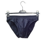 Underwear. Men's underwear on a hanger Royalty Free Stock Image