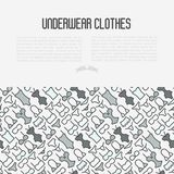 Underwear clothes concept with thin line icons. Of bikini, bra, tankini, pants. Vector illustration for web page, banner, print media Stock Photography
