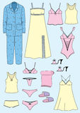 Lingerie set.Vector underwear clothes Royalty Free Stock Photos