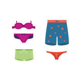 Underwear clothes vector set. Stock Photo