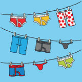 Underwear Clothesline Stock Photography