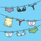 Underwear Clothesline Stock Image