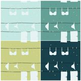 Underwear on clothesline Royalty Free Stock Images