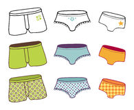 Underwear collection Stock Images
