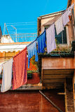 Underwear drying on the rope Royalty Free Stock Photo