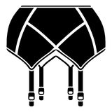 Underwear icon, simple black style Stock Photo