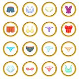 Underwear icons circle Royalty Free Stock Photos