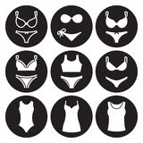 Underwear icons set Royalty Free Stock Photo