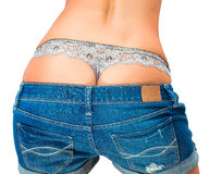 Underwear and jeans shorts Royalty Free Stock Photos