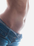 Underwear and jeans shorts Royalty Free Stock Image
