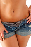 Underwear and jeans shorts Royalty Free Stock Photo