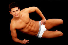 Underwear male model Stock Photo