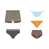 Underwear panties clothes vector set. Royalty Free Stock Photo