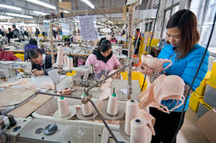 Underwear production workshop Stock Images