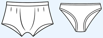 Underwear (Vector) Royalty Free Stock Photography