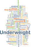 Underweight background concept Royalty Free Stock Photos