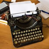 Underwood Typewriter from the Thirties of the Last Century. A classic typewriter underwood from the thirties of the last century. Underwood Typewiter Company was Royalty Free Stock Images