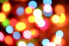 Undeutliche bunte Leuchten Lizenzfreie Stockfotos