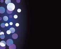 Undeutliche funkelnde Leuchten auf schwarzem backround II Stockfotografie