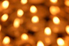 Undeutliche Kerzenlichter stockfotografie
