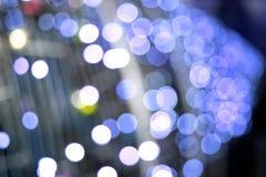 Undeutlicher festlicher Hintergrund der Weihnachtslichter neue Ideen, das Haus zu verzieren dieses Weihnachten Lizenzfreies Stockbild