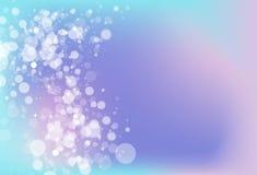 Undeutlicher kalter Ton magisches Bokeh-Sternscheinglanz-Konzept abstra lizenzfreie abbildung