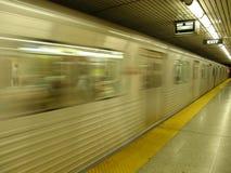 Undeutliches Bild der Untergrundbahn Lizenzfreie Stockfotos