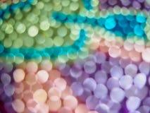 Undeutliches buntes Kristall-bokeh Lizenzfreies Stockfoto