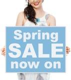 Undeutliches unfocused Frühlingsplakat lizenzfreie stockfotos