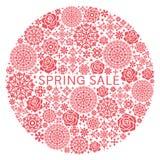 Undeutliches unfocused Frühlingsplakat Stockbilder