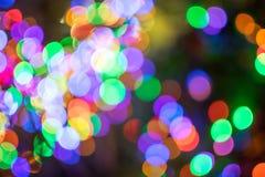 Undeutliches Weihnachtslicht bokeh Stockfotografie