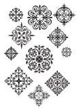 Undici disegni decorati royalty illustrazione gratis