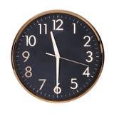 Undici e mezzo sull'orologio fotografia stock libera da diritti