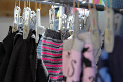 Undies on a wash dry line Stock Images