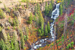 Undine Falls Yellowstone National Park Stock Photo