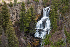 Undine Falls in Yellowstone National Park Stock Photography