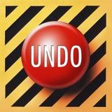 Undo button stock photo