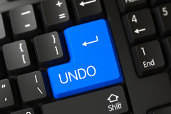 Undo CloseUp of Blue Keyboard Key. 3D. Stock Images