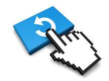 Undo Icon. 3D Illustration Undo Vector Icon Stock Image