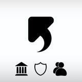 Undo  icon, vector illustration. Flat design style Royalty Free Stock Photos