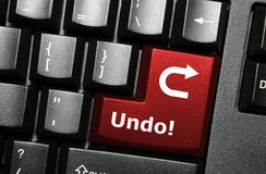 Undo key button. Special undo key on a keyboard Stock Images
