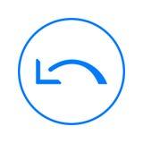 Undo, left arrow circular line icon. Round colorful sign. Flat style vector symbol. Stock Image
