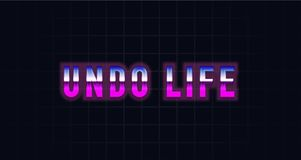 Undo Life With Glow Outline royalty free illustration