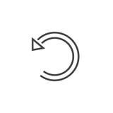 Undo line icon, Restore outline  logo illustration, linear Royalty Free Stock Image